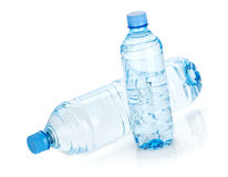 Two water bottles stock photography