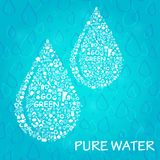 Two Water Drop Eco Concept Royalty Free Stock Photo