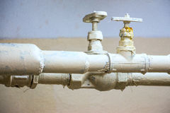 Two water pipes Royalty Free Stock Images
