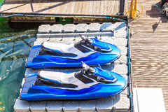 Two water scooter boats for adventure tourism with motor sport w Stock Image