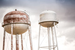 Two water towers Royalty Free Stock Photos