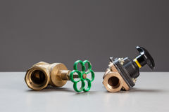 Two water valves Stock Image