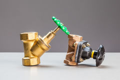 Two water valves Stock Photography