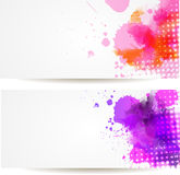 Two watercolor banners Royalty Free Stock Photo