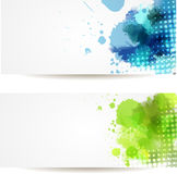 Two watercolor banners Royalty Free Stock Images