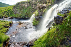 Two waterfalls in Scotland Royalty Free Stock Photography