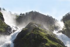 Two waterfalls Royalty Free Stock Photos