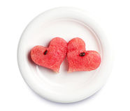 Two watermelon slices Royalty Free Stock Photography