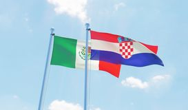 Two waving flags Royalty Free Stock Photography