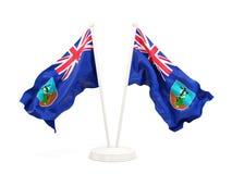Two waving flags of montserrat Stock Photos