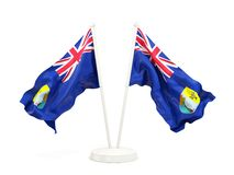 Two waving flags of saint helena Royalty Free Stock Image