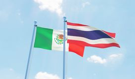 Two waving flags Stock Photography