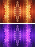 Two wavy backgrounds. Set of two colorful abstract wavy background Royalty Free Stock Photography