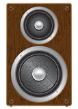 Two way audio speaker. Front view illustration Stock Images
