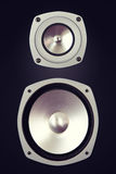 Two Way Big Audio Stereo Loud Speaker Royalty Free Stock Image