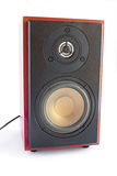 Two way brown audio speaker Royalty Free Stock Photos