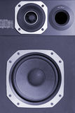 Two way hi-fi audio speaker, blue toned. Two way high fidelity audio speaker, blue toned Royalty Free Stock Image