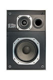 Two way hifi audio speaker, isolated Royalty Free Stock Images