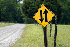 Two way road Stock Photography