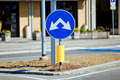 Two way road sign Stock Photography