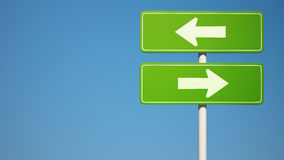 Two way Sign with Clipping Path Stock Images