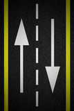 Two way traffic arrows Stock Images