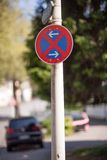 Two way traffic sign Stock Photo