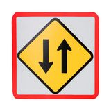 Two way traffic sign Stock Photos