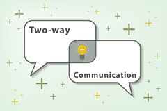 Two ways communication concept (Vector eps10) Royalty Free Stock Photography