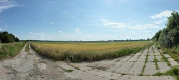 Two Ways. Rural panorama near Greifswald, Mecklenburg-Vorpommern, Germany. There are two old ways to choose between Stock Images