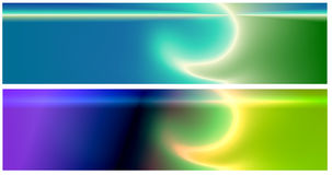 Two Web Banners Royalty Free Stock Images