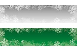 Decorative christmas banners with snowflakes. stock illustration
