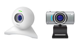 Two webcams. Isolated on white background Stock Image