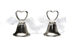 Two wedding bells isolated on white background Royalty Free Stock Image