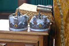 Two wedding crowns Royalty Free Stock Photos