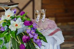 Two wedding glasses Royalty Free Stock Image