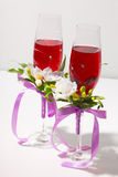 Two wedding glasses Stock Photo