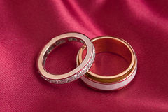 Two wedding gold ring Stock Photography