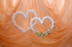 Two wedding hearts Stock Photography