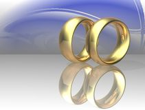 Two wedding ring Stock Photography