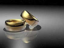 Two wedding ring Royalty Free Stock Images