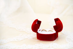 Two wedding ring. Is a symbol of love and fidelity Royalty Free Stock Photography