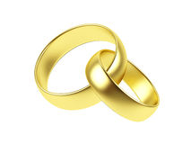 Two wedding ring on a white background. Stock Photography