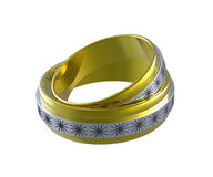 Two wedding rings Royalty Free Stock Photos