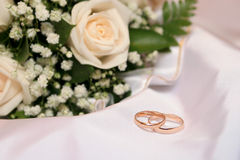 Two wedding rings Royalty Free Stock Image