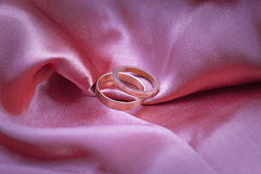 Two wedding rings Royalty Free Stock Image