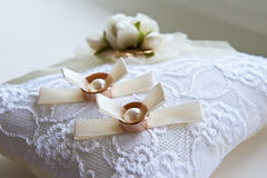 Two wedding rings Royalty Free Stock Photo