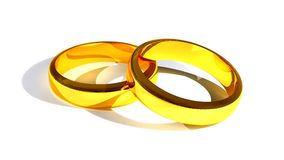 Two wedding rings Stock Images