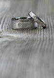 Two wedding rings Stock Image