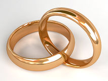 Two wedding rings Stock Photo